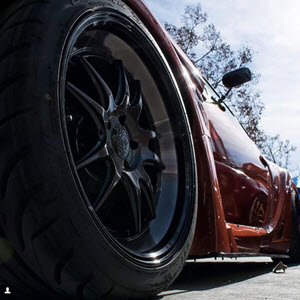 Accelera Tires on a Sports Car